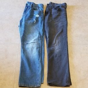 2 men's size 34 x 30 old navy jeans -  barely worn